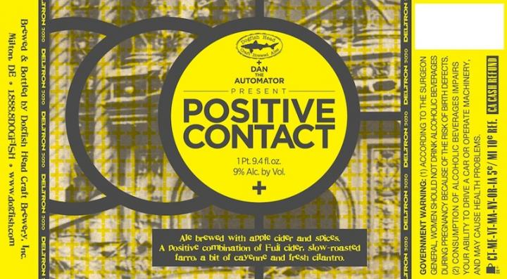 Dogfish Head Positive Contact Hitting Shelves June 18th