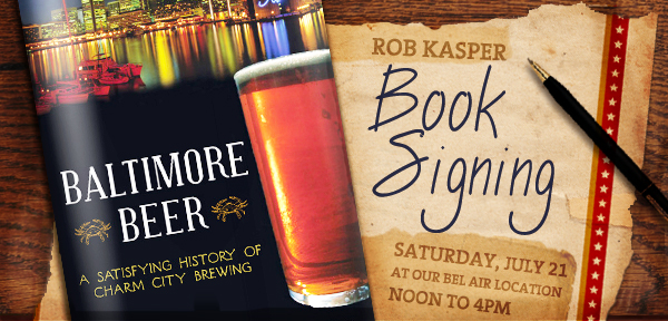 Baltimore Beer Author, Rob Kasper, Signing Books @ DuClaw
