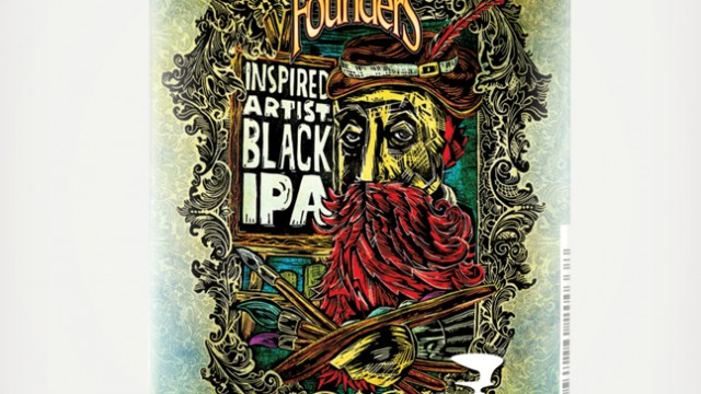 Founders Inspired Artist Black IPA benefits world's biggest art competition