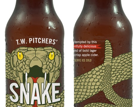 "TW Pitchers ""Snake Bite"" combines cider with lager in a bottle"