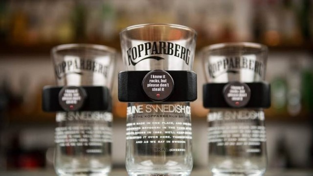 Kopparberg's new glass treats you like the filthy thief that you are
