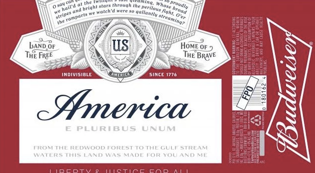"""Budweiser becomes """"America"""", is not even American."""